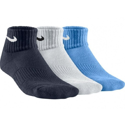 KIDS' COTTON CUSHION QUARTER SOCK (3 PAIR) - NIKE - SX4722-941