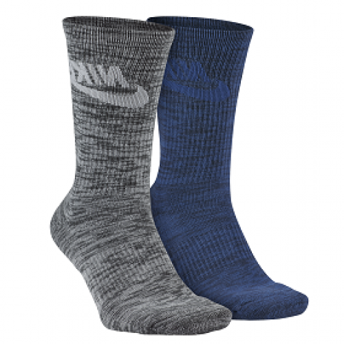 MEN'S SPORTSWEAR BLUE LABEL ADVANCE GRAPHIC CREW SOCK (2 PAIR) - NIKE - SX5403-901