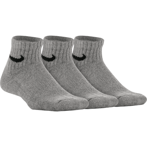 Performance Cushioned Quarter Training Socks (3 Pair) - NIKE - SX6844-063