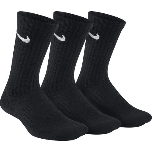Kids' Nike Performance Cushioned Crew Training Socks (3 Pair - SX6842-010