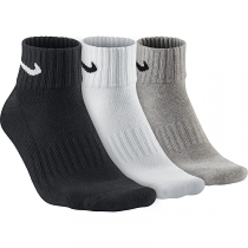 UNISEX CUSHION QUARTER TRAINING SOCK (3 PAIR) - NIKE - SX4926-901